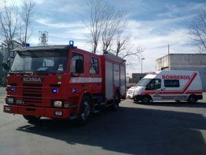 bomberos y ambulancia