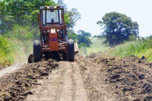 camino rural maquina