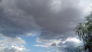 calor y nubes