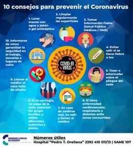 coronavirus consejos