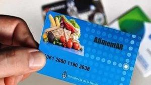 tarjeta alimentar