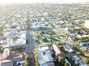 drone ciudad vacia