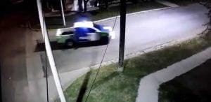 patrullero en la calle