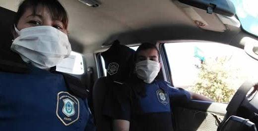 policia barbijo movil