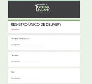 registro delivery