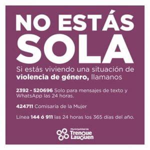NO ESTAS SOLA
