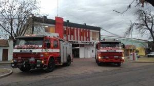 bomberos autobomba cuartel