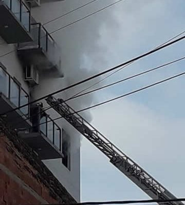 incendio departamento escalera