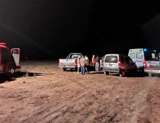rescate campamento noche
