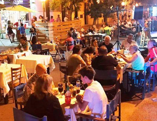 mesas calle bares