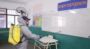 escuela desinfeccion