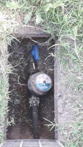 medidor de agua adentro